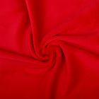 Ткань д/игрушек  Плюш 48х48 см  440 г/кв.м  100% полиэстер   red