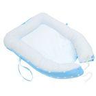 """Гнездышко-кокон для малыша """"Комфорт"""", размер 100х72 см, цвет голубой/белый К41/2"""