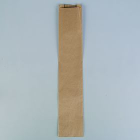 Пакет крафт бумажный фасовочный, V-образное дно 11 х 5 х 61 см Ош