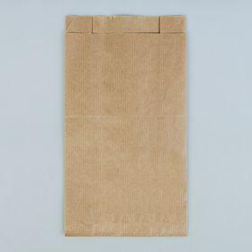 Пакет крафт бумажный фасовочный, V-образное дно 14 х 6 х 25 см Ош