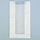 Пакет бумажный фасовочный, белый, с окном, V-образное дно 14(6) х 6 х 25 см