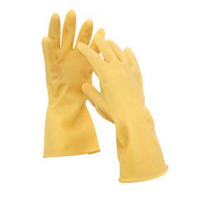 Перчатки хозяйственные резиновые Komfi «Сверхпрочные», размер М, 97 гр, цвет жёлтый