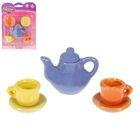 """Набор посуды керамической """"Цветной"""", на 2 персоны, 5 предметов"""