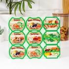 Набор цветных этикеток для домашних заготовок из овощей, грибов и зелени 6.4×5.2 см