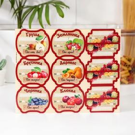 Набор цветных этикеток для домашних заготовок из ягод и фруктов 6.4×5.2 см