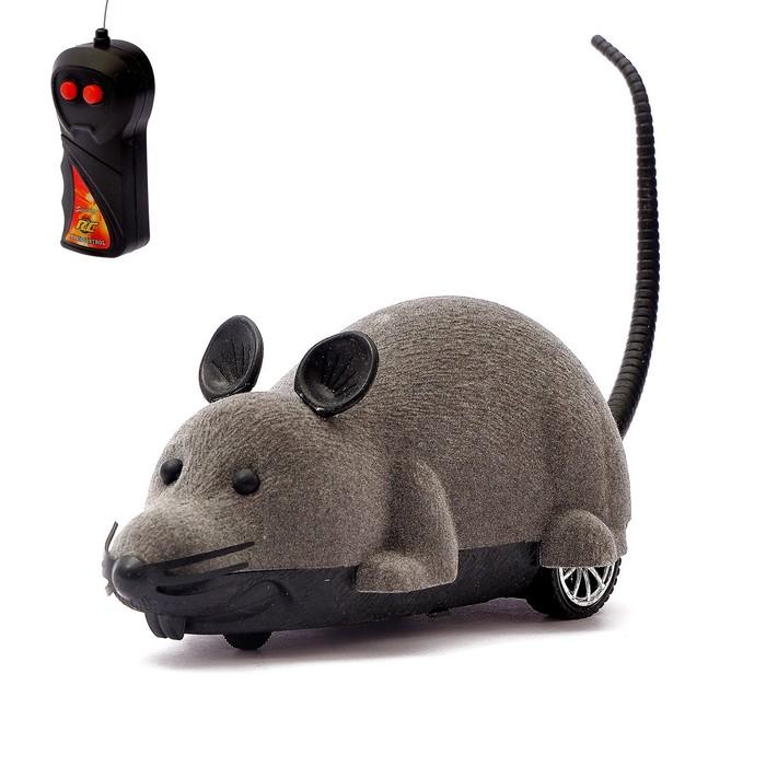 """Животное радиоуправляемое """"Мышь"""", работает от батареек, МИКС"""