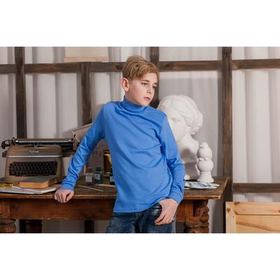 Водолазка для мальчика, рост 158 см, цвет голубой CAJ 61164