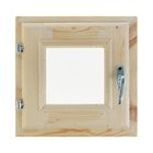 Окно 30х30 см, двойное стекло, хвоя