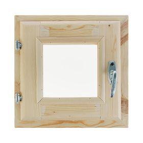 Окно, 30×30см, двойное стекло, из хвои