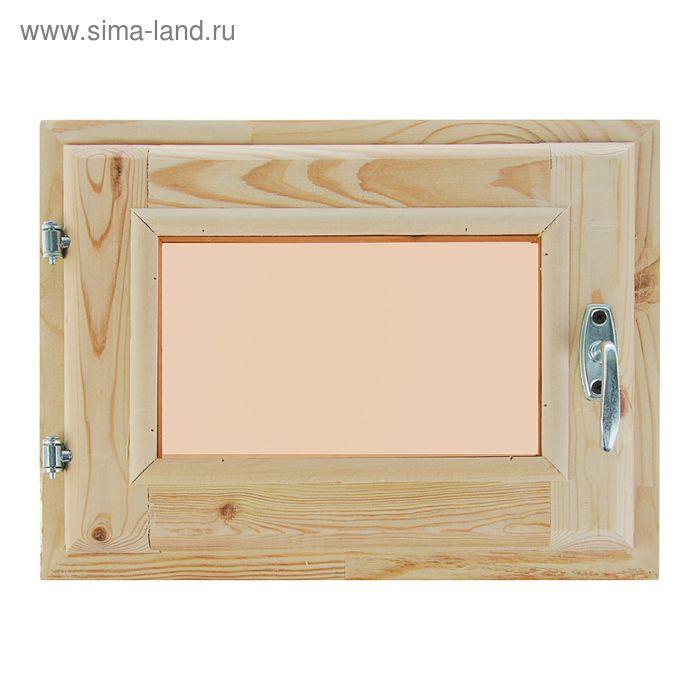Окно 30х40 см, двойное стекло, хвоя, тонированное