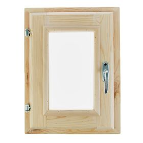 Окно, 40×30см, двойное стекло, из хвои