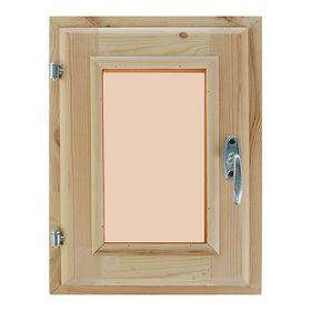 Окно, 40×30см, двойное стекло, тонированное, из хвои Ош