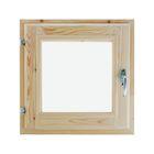 Окно с уплотнителем, 40 × 40 см, хвоя, двойное стекло