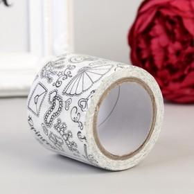 "Adhesive tape paper ""Journey"" 4.8 cm width 5 meters"