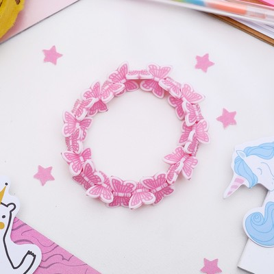 """Bracelet child """"Vibracula"""" butterfly whirl, the color pink"""