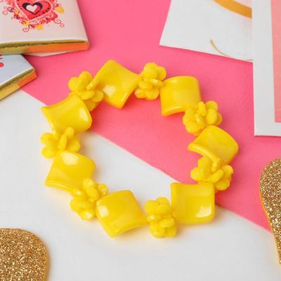"Bracelet child ""Vibracula"" diamond, flexible, color yellow"