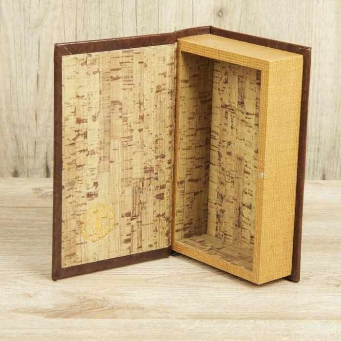 "Шкатулка-книга дерево ""Эстет"" кожзам 21х13х5 см"
