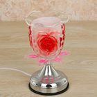 """Аромасветильник стекло """"Розовая роза"""" сенсорный 17,5х11х12,5 см"""