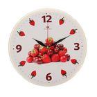 """Часы настенные """"Ягодная горка"""", """"Рубин"""", 25х25 см"""