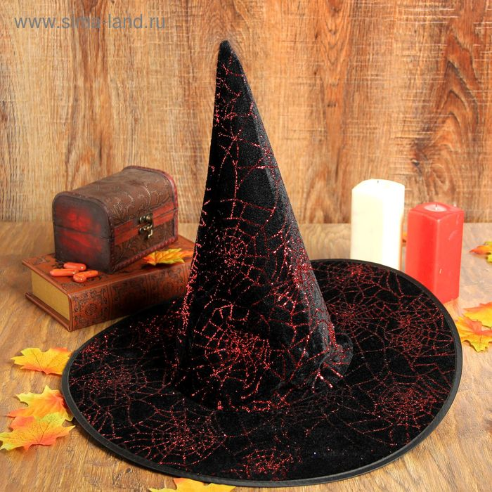 """Carnival hat """"Web"""", color red"""