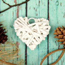 Основа для творчества и декорирования 'Сердце' с подвесом, размер 1 шт 6*6 см, цвет белый Ош