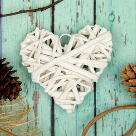 Основа для творчества и декорирования 'Сердце' с подвесом, размер 1 шт 8*8 см, цвет белый Ош