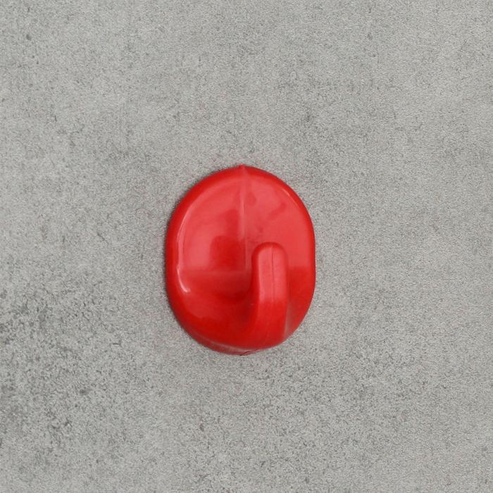 Крючок настенный, самоклеящийся, цвет МИКС