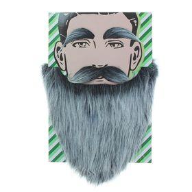 Карнавальная борода «Седая», с усами и бровями