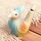 """Ceramic tin whistle """"bird with a crest"""" painted"""
