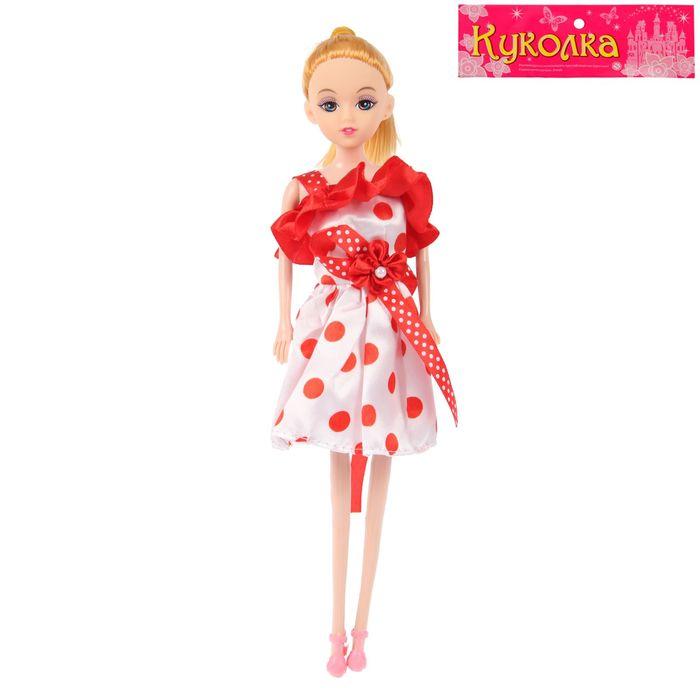 """Кукла модель """"Кира"""" в платье горошек"""