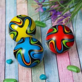 Мяч мягкий 'Узор' 4,5 см, цвета МИКС Ош