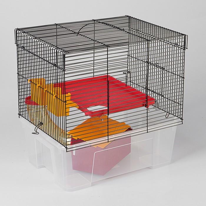 Клетка для грызунов «Арчи 1», 39 х 28 х 35 см, микс цветов