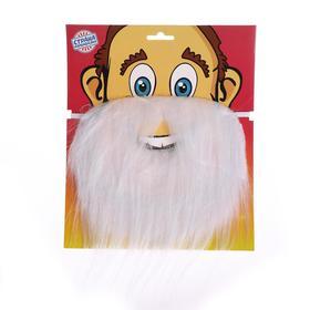 Карнавальная борода, на блистере, цвет белый