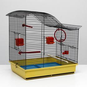 Клетка для попугая 'Фиона', 3 яруса, 48 х 38 х 53 см, микс цветов Ош