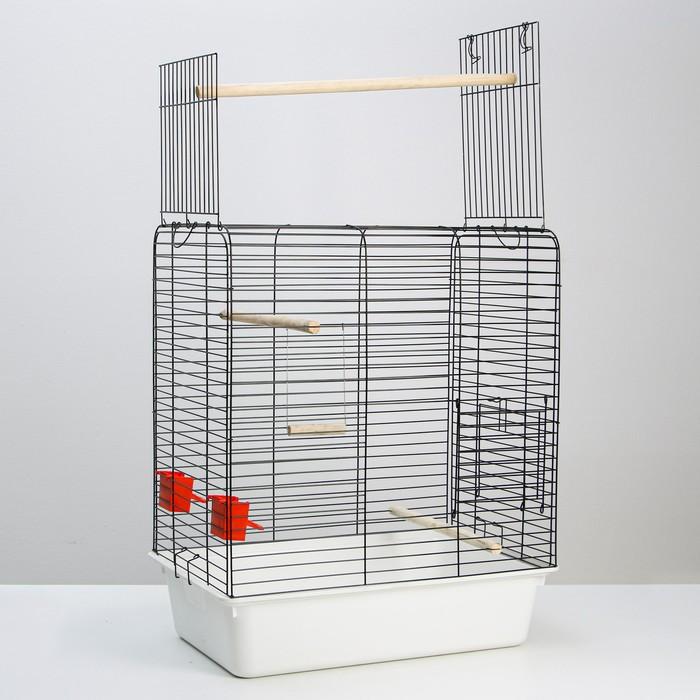 """Клетка для птиц """"Рикки 2"""" с открывающимся верхом, 55 х 41 х 70 см, микс цветов"""