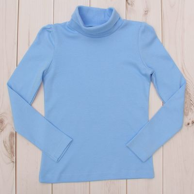 Водолазка для девочки, рост 110 см, цвет голубой