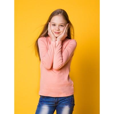 Водолазка для девочки, рост 134 см, цвет персиковый