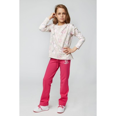 Брюки спортивные для девочки, рост 152 см, цвет фуксия