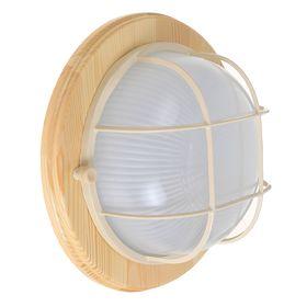 Светильник для бани/сауны ITALMAC Termo 60 01 18, 60 Вт, IP54, цвет береза, до +130°C