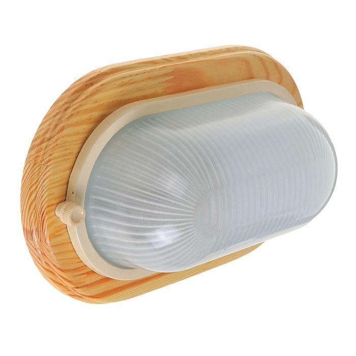 Светильник для бани/сауны ITALMAC Termo 60 20 18, 60 Вт, IP54, цвет береза, до +130°C