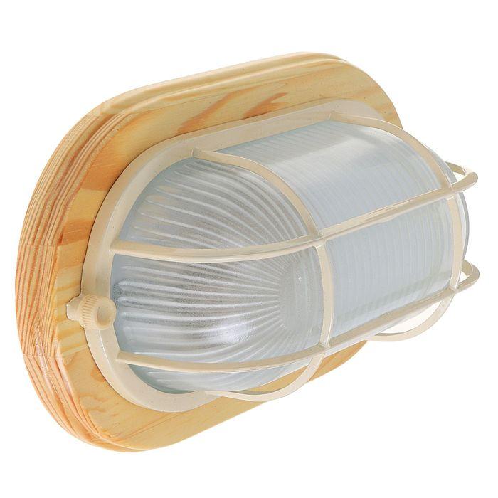 Светильник для бани/сауны ITALMAC Termo 60 21 18,  IP54, цвет береза, до +130°C