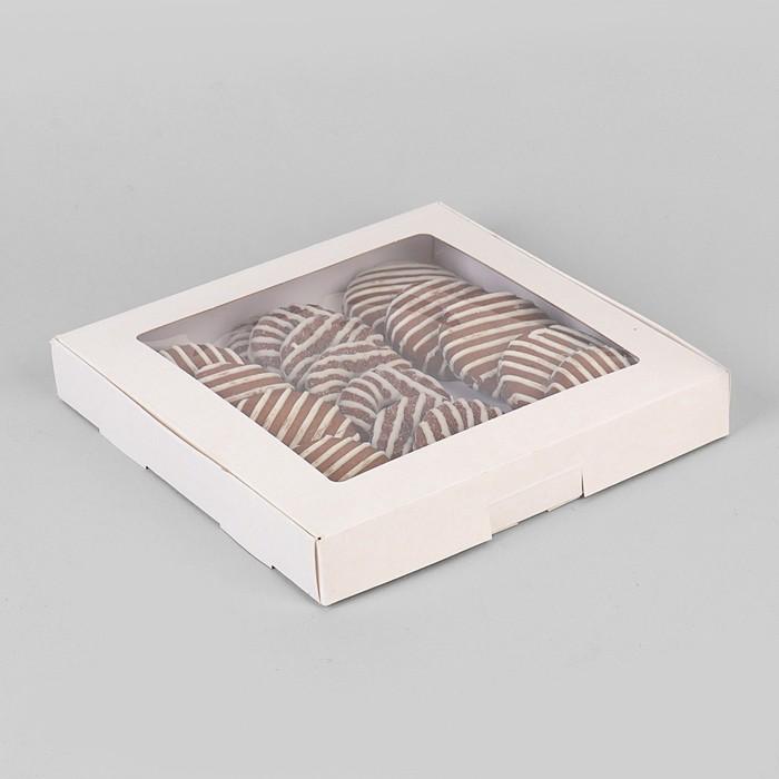 Коробка самосборная бесклеевая, 21 х 21 х 3 см - фото 308035263
