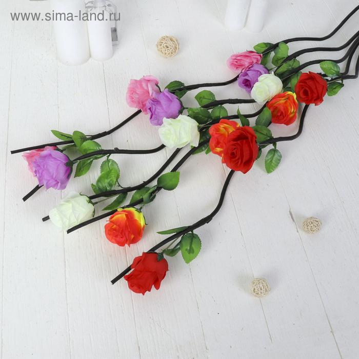 """Декоративная ветка """"Шикарная роза"""" микс"""