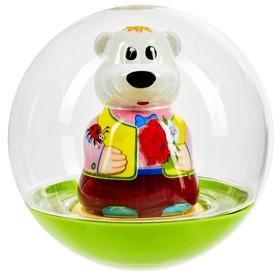 Погремушка-неваляшка «Мишка», в пакете, цвета МИКС