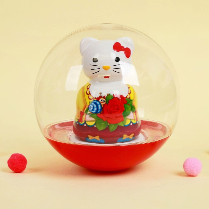 Погремушка-неваляшка «Кошечка», в пакете, МИКС - фото 76140568