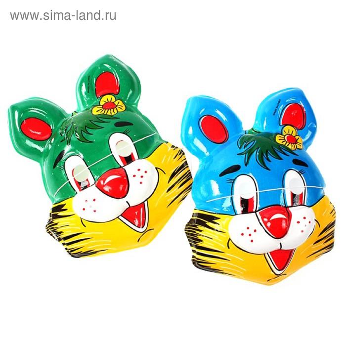 "Карнавальная маска ""Заяц с цветочком"", цвета МИКС"