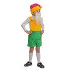 """Карнавальный костюм """"Гномик 1"""" плюш, полукомбинезон, колпак, борода, рост 92-122 см"""
