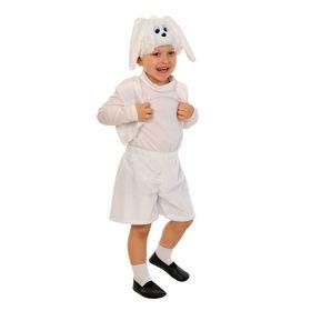 """Карнавальный костюм """"Зайчик белый"""" плюш,жил,шапка,шорты, рост 92-116 см  виды МИКС 00-3004"""