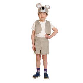 """Карнавальный костюм """"Мышонок"""" плюш,жилет,шапка,шорты, рост 92-116 см   00-3029"""
