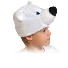 Маска 'Мишка полярный', плюш, р-р 53-55 Ош